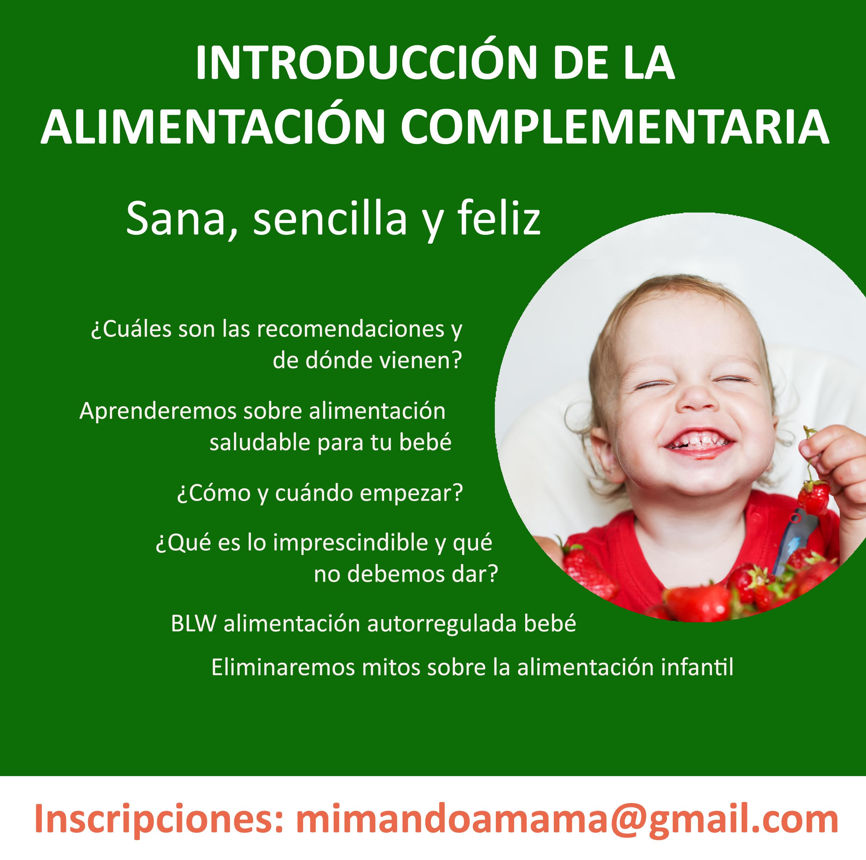 Taller Introducción Alimentación Complementaria. BLW.
