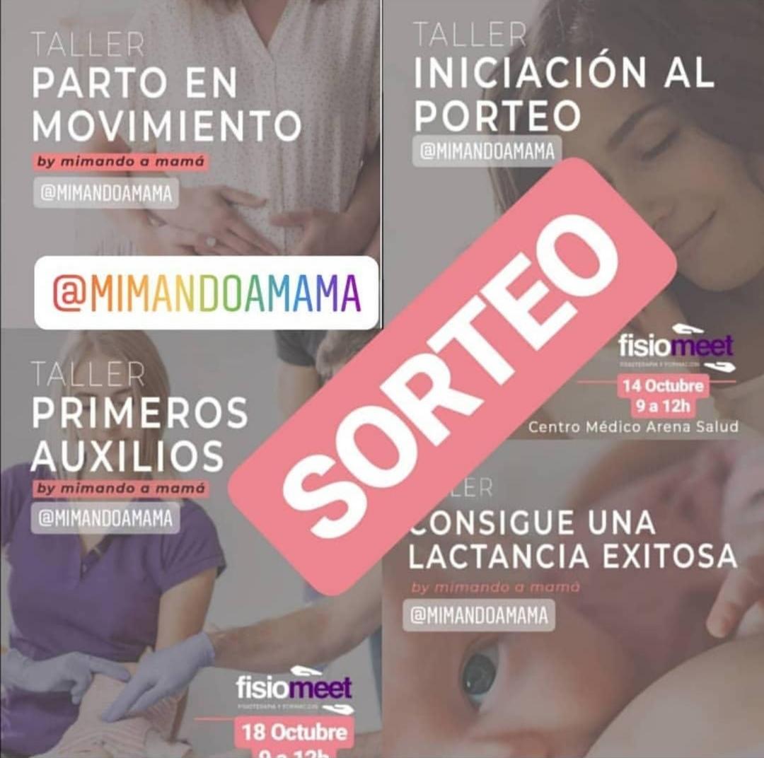 SORTEO TALLERES INSTAGRAM @MIMANDOAMAMA